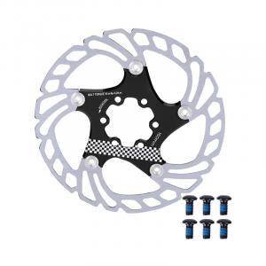 Bike Brake Rotor, 203mm Aluminum Alloy Mountain Bike Type Floating Brake Disc Bicycle Brake Rotor