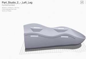 Layout support material for 3D printing