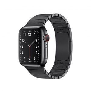 apple watch with space black chain strap